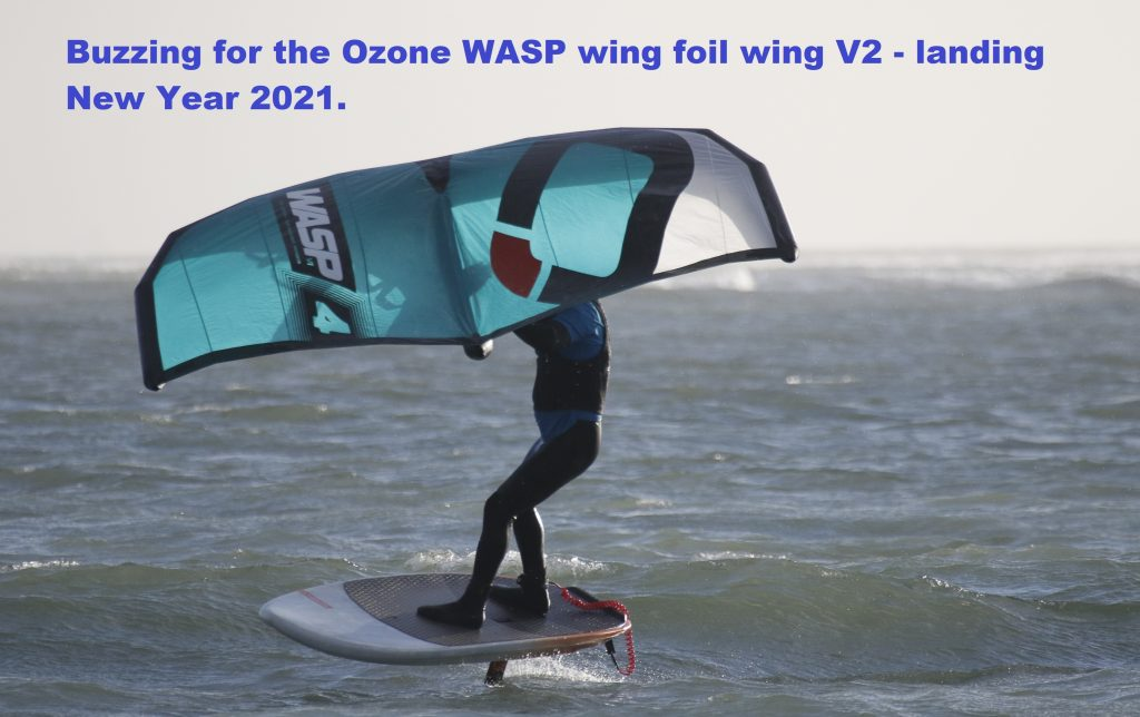 Buzzing for the Ozone V2 WASP wing foil wing in 2021